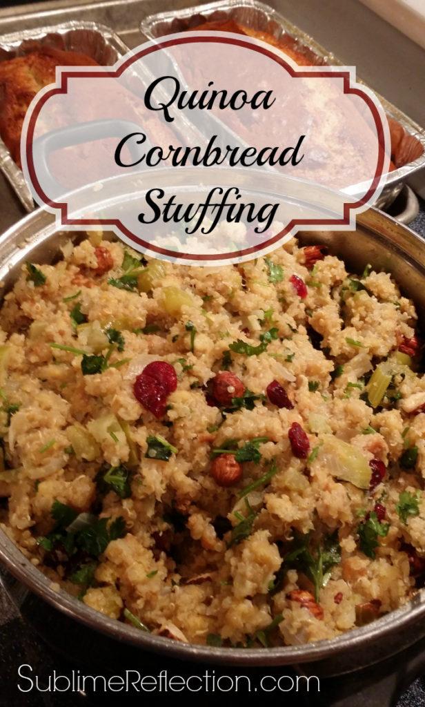 Healthy Quinoa Cornbread Stuffing