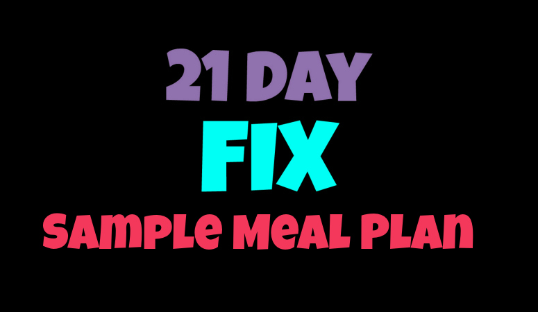 21 day fix meal plan sublime reflection