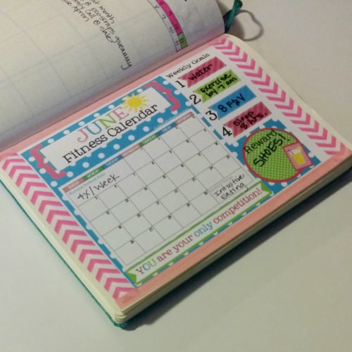 Bullet Journal Fitness Calendar June 2016