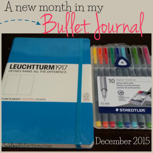 Setting up a new month in my bullet journal!  Come see how I set up for a new month and all my monthly pages.