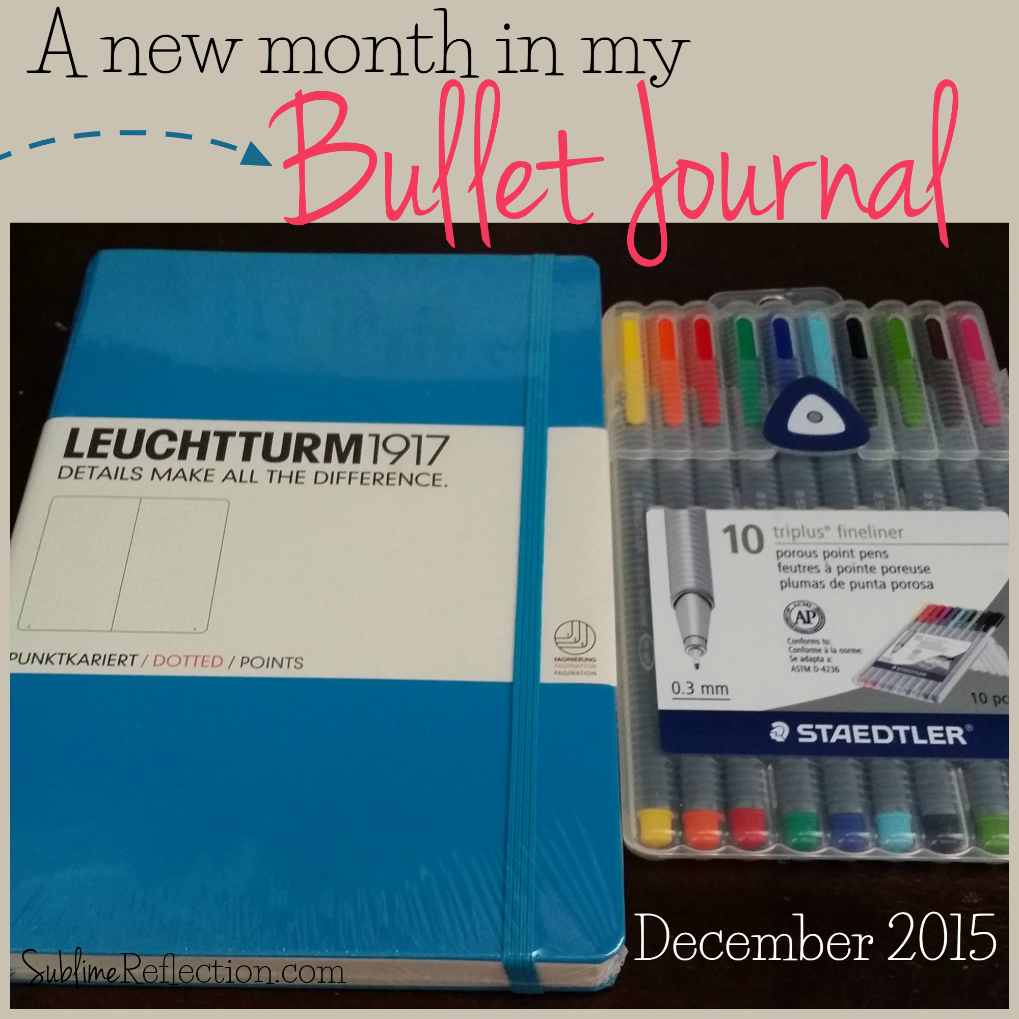 Bullet Journal December Setup