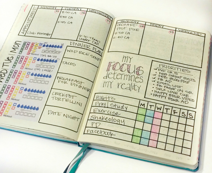 bullet journal weekly layout ideas sublime reflection. Black Bedroom Furniture Sets. Home Design Ideas
