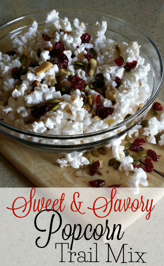 Sweet and Savory Popcorn Trail Mix