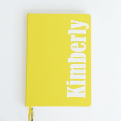 Personalize your Bullet Journal by adding your name to the front cover!