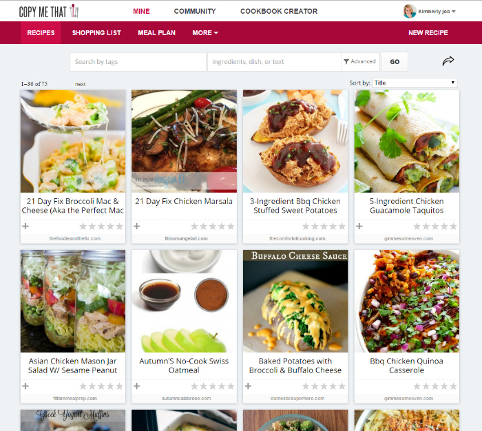 This is a great site to save recipes you find online!