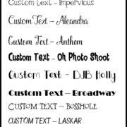 Custom Fonts List