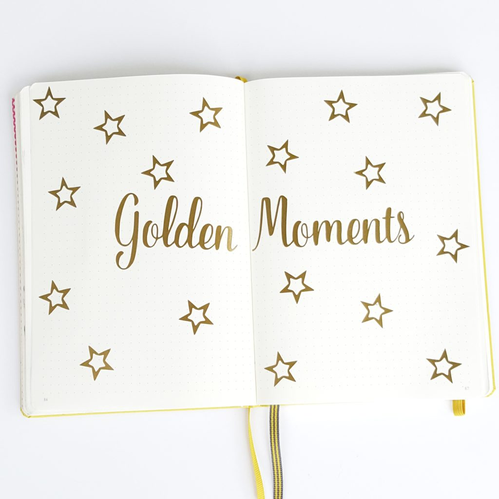 Tracking golden moments in your bullet journal.