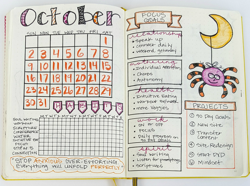 Plan With Me My October Bullet Journal Setup Sublime
