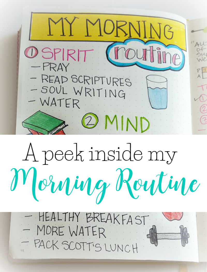 My morning routine is the most important part of my self-care practice. Come see a peek inside my bullet journal at the routine that works for me!