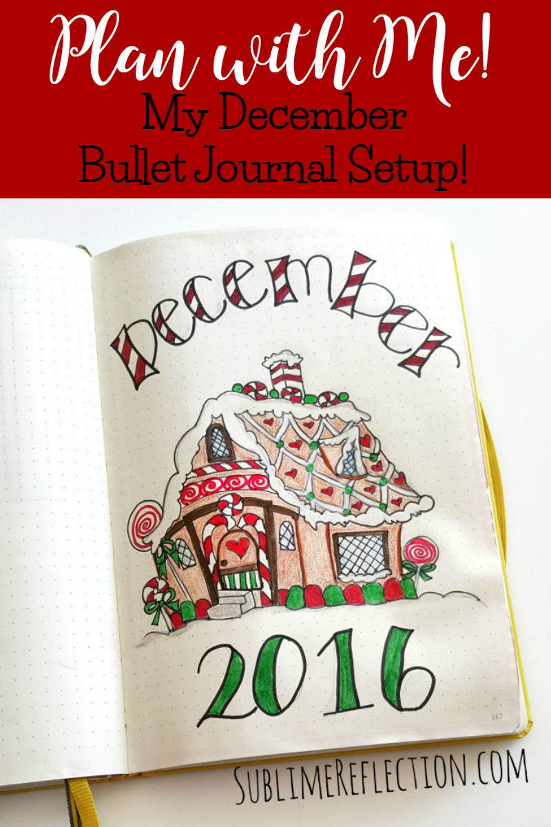 My December 2016 Bullet Journal setup!