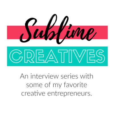 Sublime Creatives featuring Me!