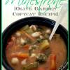 Slow Cooker Minestrone {Olive Garden Copycat Recipe}