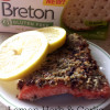 Roasted Salmon with {Gluten Free} Lemon Herb & Garlic Crust