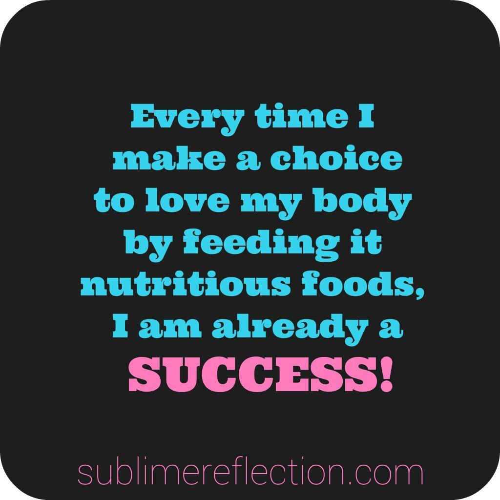 You define success