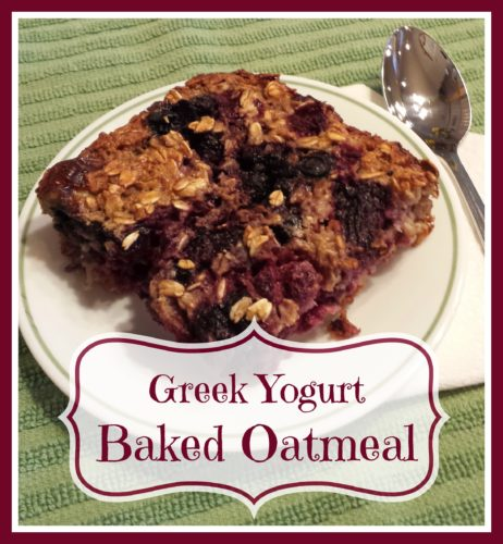 Greek Yogurt Baked Oatmeal