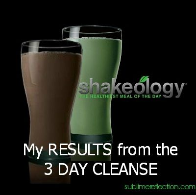 Shakeology Cleanse Result