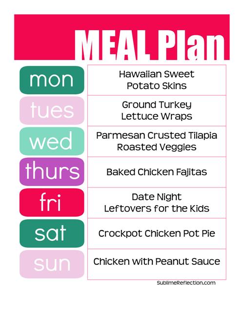 Clean Eating Meal Plan 3