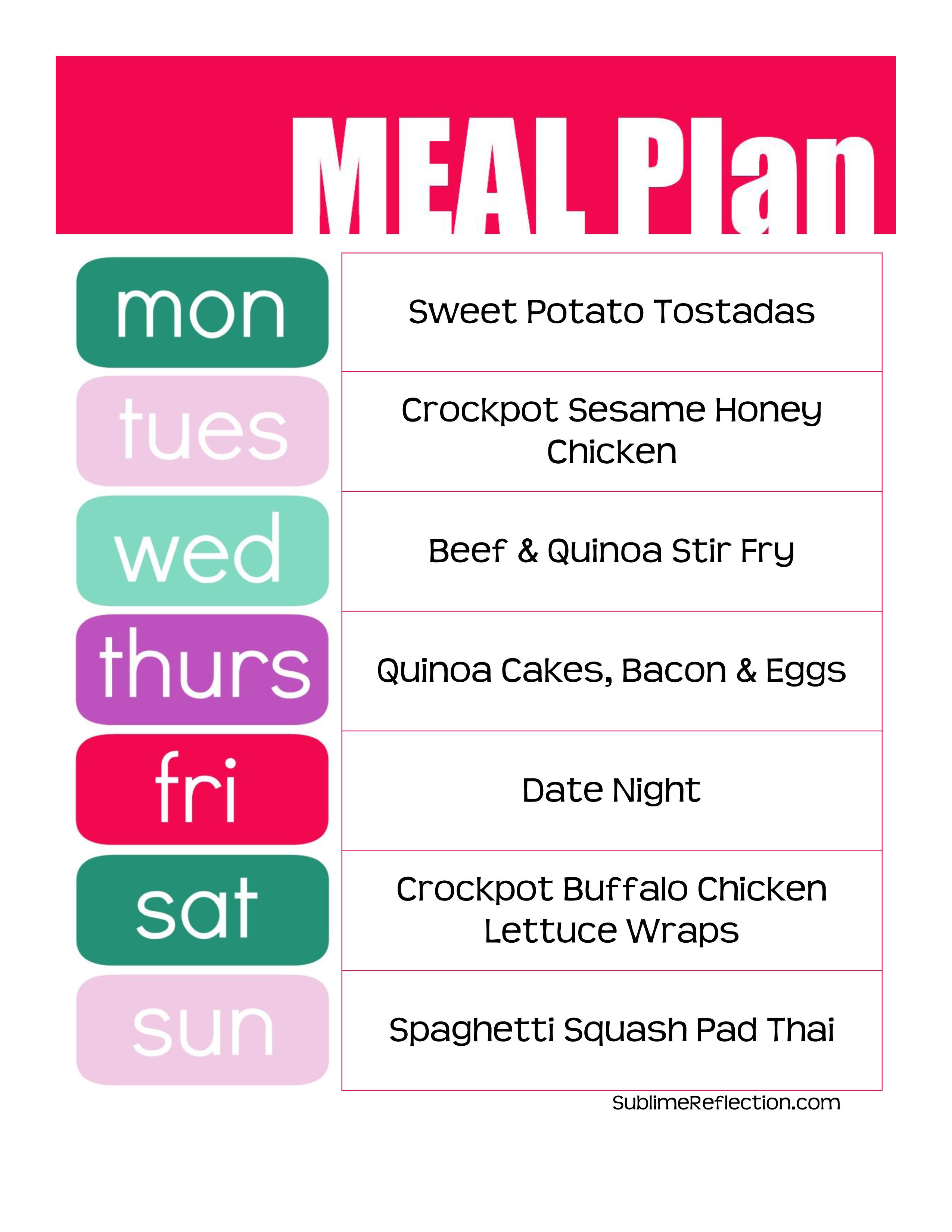 Clean Eating Meal Plan 4