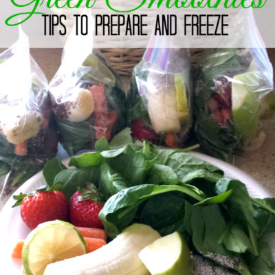 Green Smoothie Freezer Bags