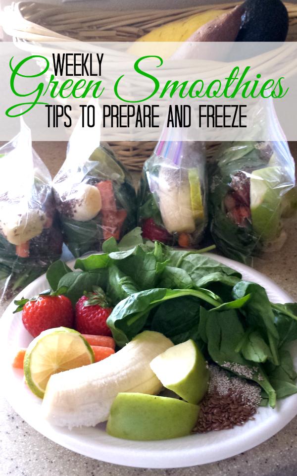 Green Smoothie Freezer Bags