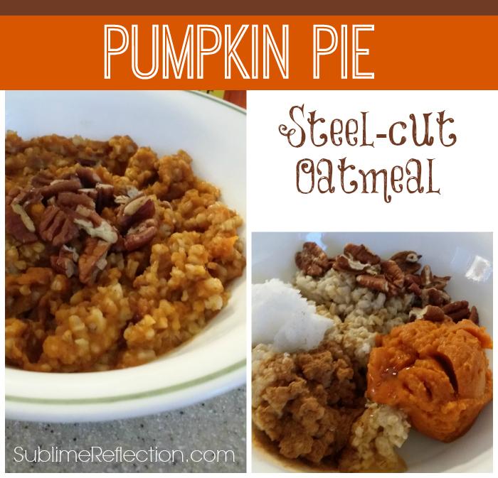 Clean Eating Pumpkin Pie Oatmeal