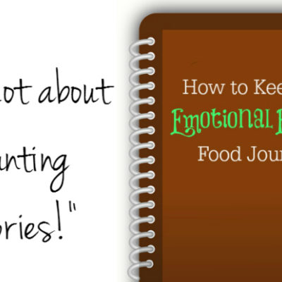 How to keep an emotional eating food journal.