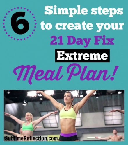 How to create a 21 Day Fix Extreme meal plan.