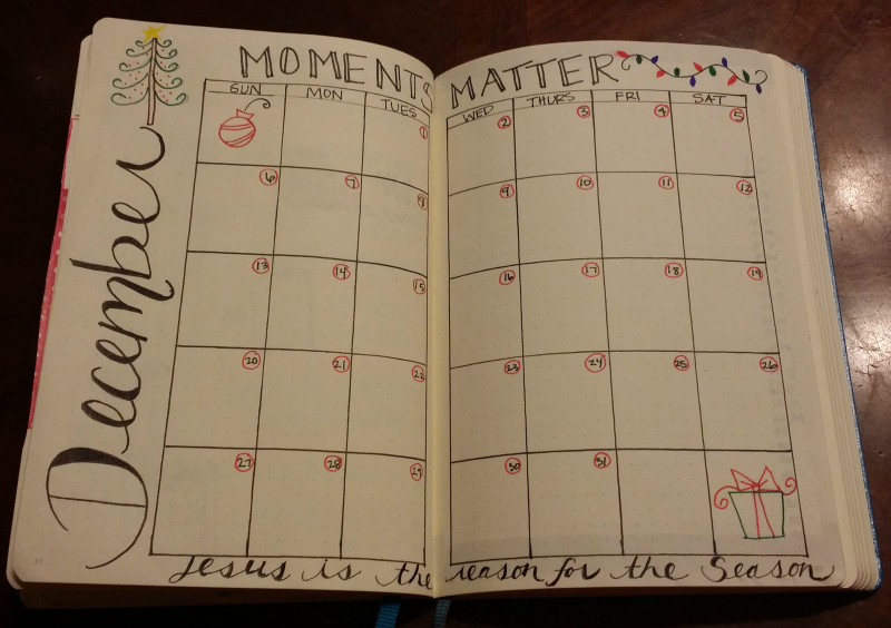 Bullet Journal December Setup Sublime Reflection