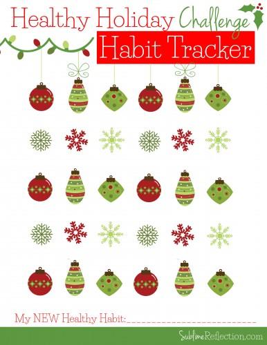 Healthy Holiday Habit Tracker