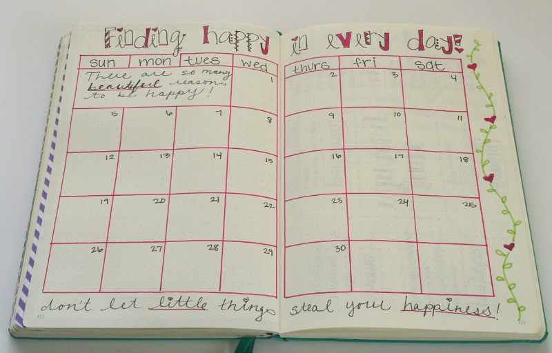 Bullet Journal Happiness Tracker