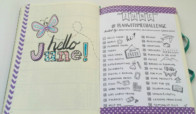 Plan with Me:  June Bullet Journal Setup
