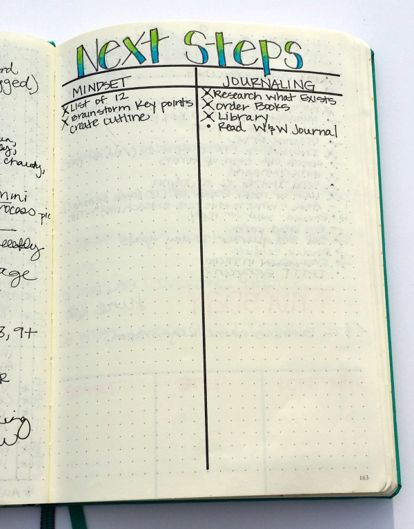 How I use my bullet journal to set and achieve goals!