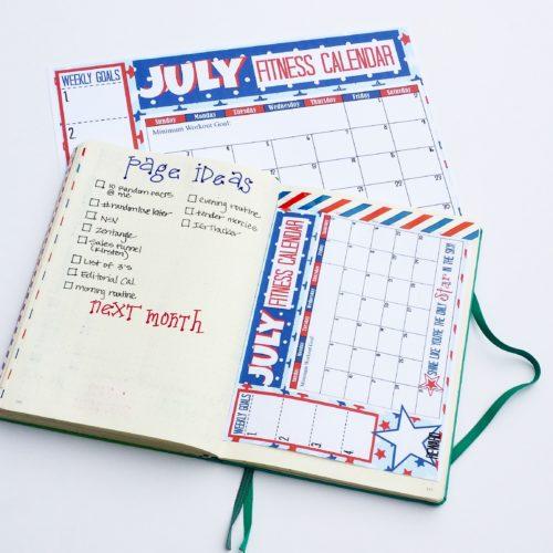 July Fitness Calendar