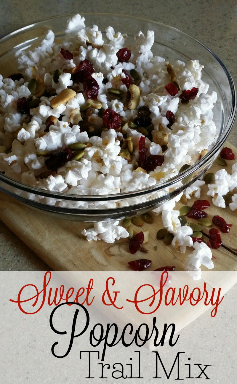 Sweet and Savory Popcorn Trail Mix