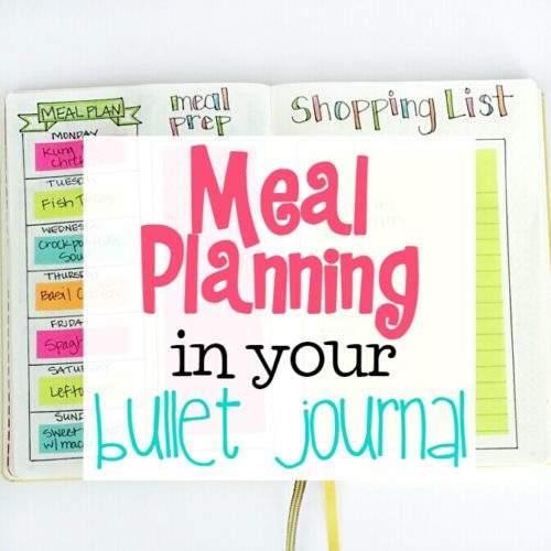 How to use your Bullet Journal for Meal Planning! I'm also sharing my other favorite meal planning tool!