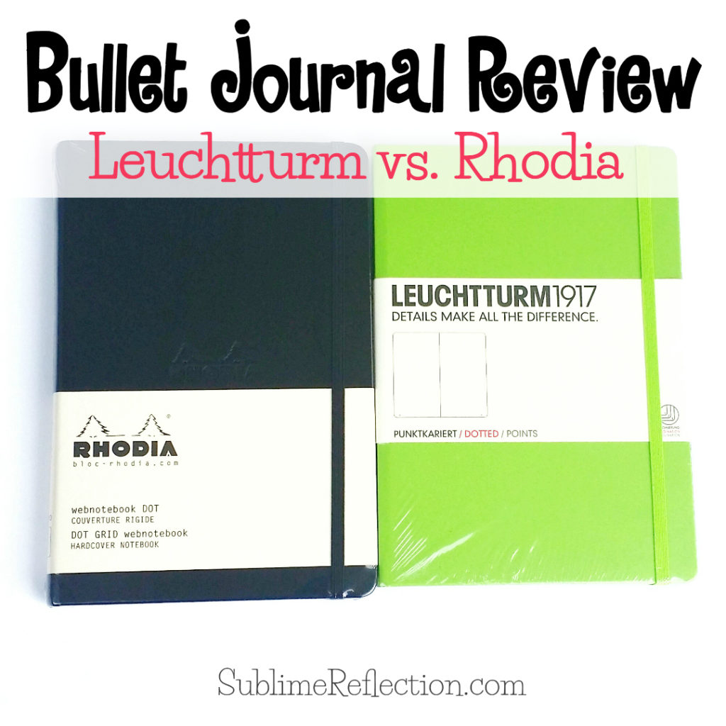 Bullet Journal Review: Leuchtturm vs. Rhodia. These are both great notebooks. Come read my breakdown of what I like best about each!