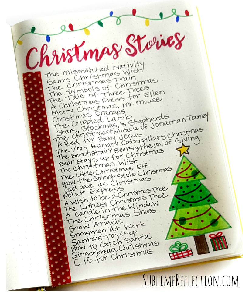 Ideas for holiday planning in your bullet journal.