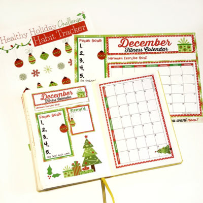 Fitness Calendar printable to keep you on track throughout the holidays!