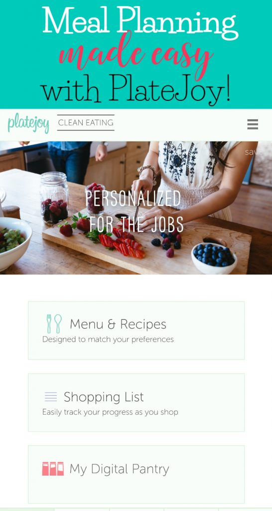 Meal planning made easy with PlateJoy! Discount code included!