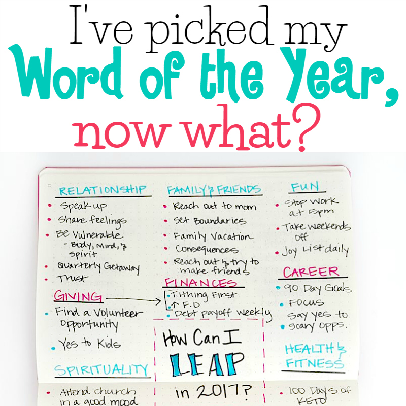 I've picked my word of the year, now what?