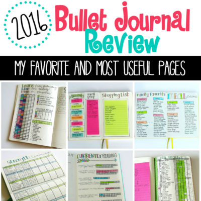 My 2016 Favorite Bullet Journal Pages!