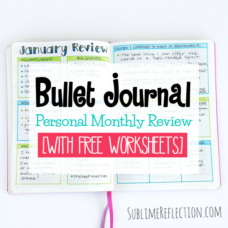 Personal Monthly Review in your Bullet Journal